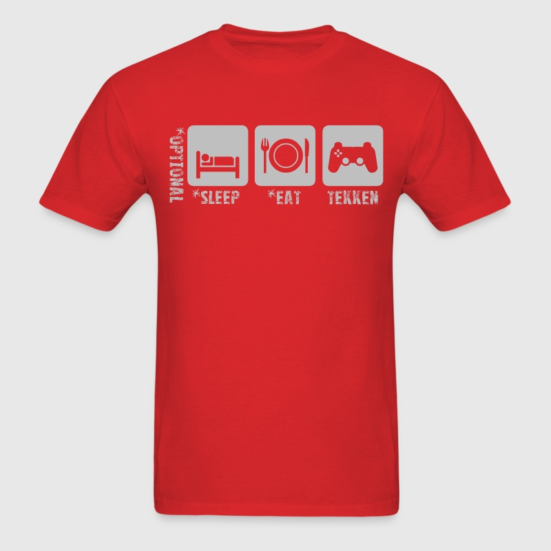 eat+sleep+tekken.png T-Shirts - Men's T-Shirt
