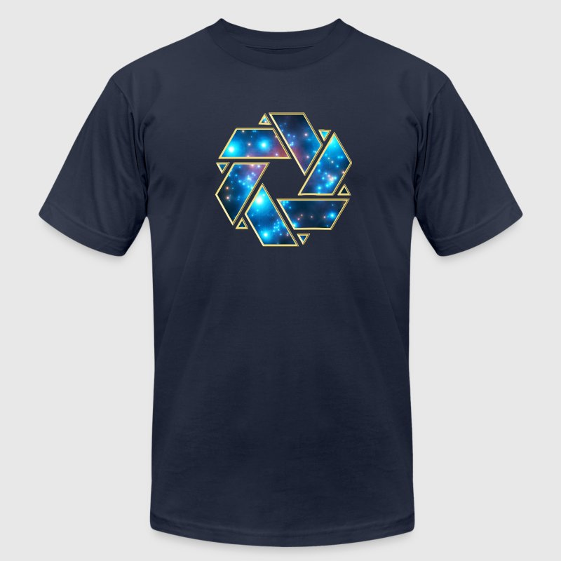 Double Mobius strip, crop circle, non-duality  T-Shirts - Men's T-Shirt by American Apparel