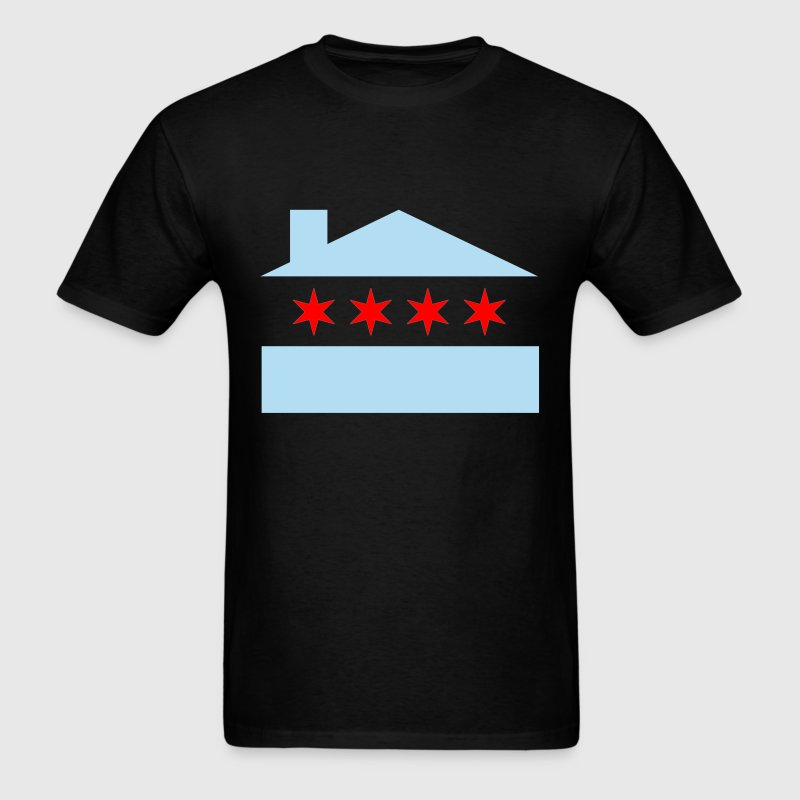 Chicago House Flag - Men's T-Shirt