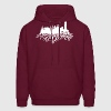 Buffalo New York Skyline  Hoodies - Men's Hoodie