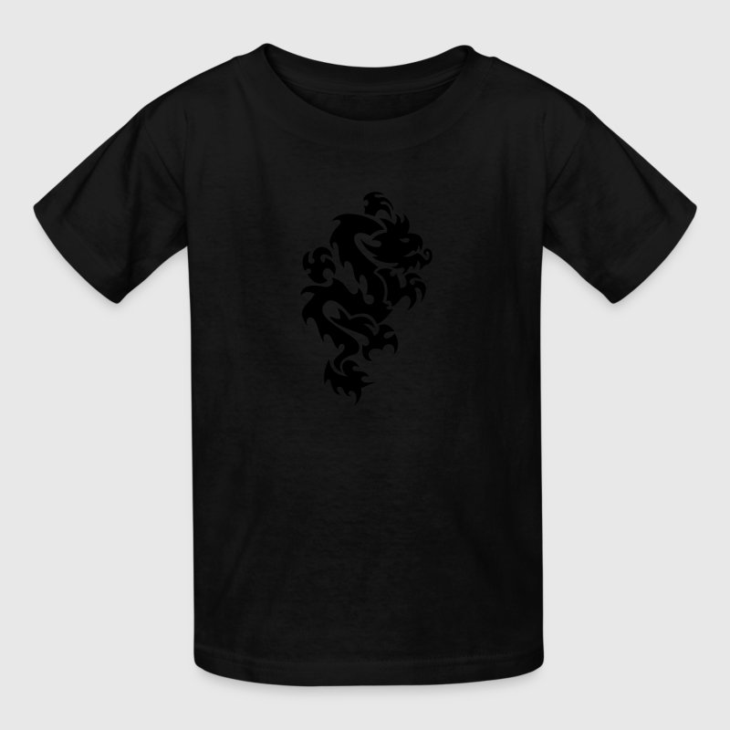 Tribal Dragon - Tattoo - Cool - Vector - Fantasy Kids' Shirts - Kids' T-Shirt