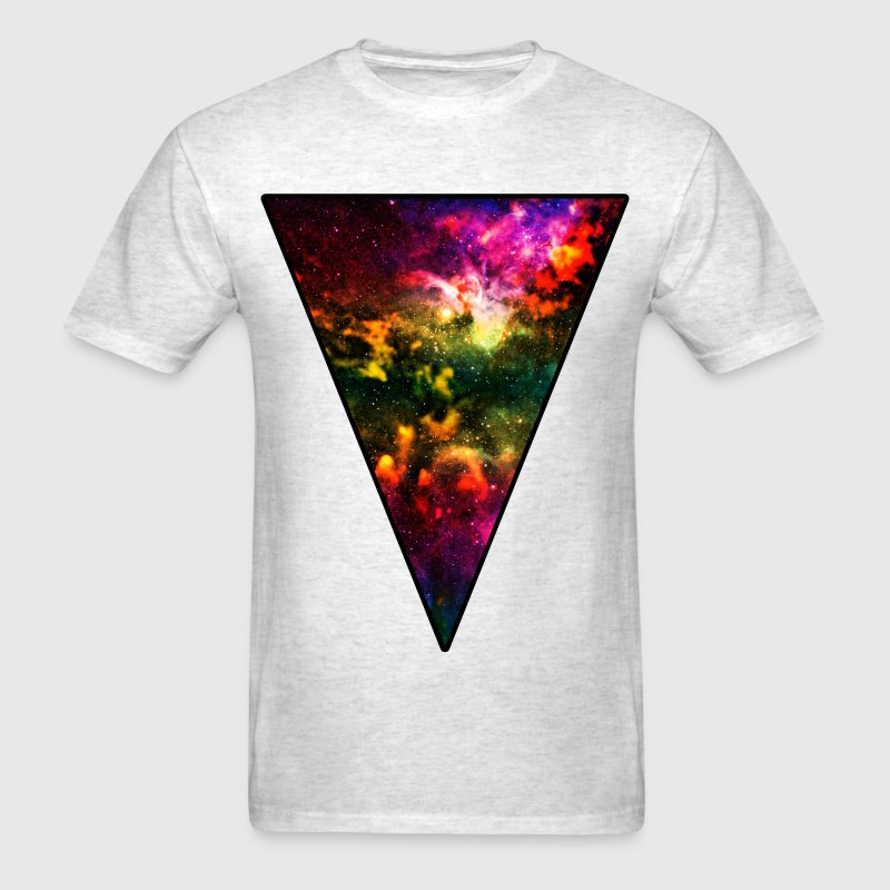 Colorful Galaxy Triangle T-Shirts - Men's T-Shirt
