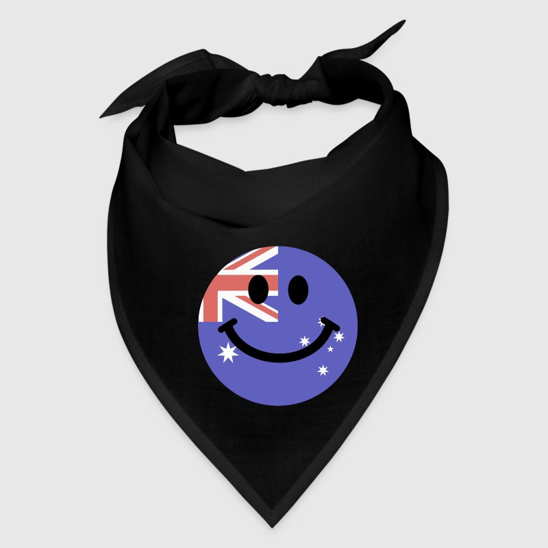 Australian flag smiley face Caps - Bandana