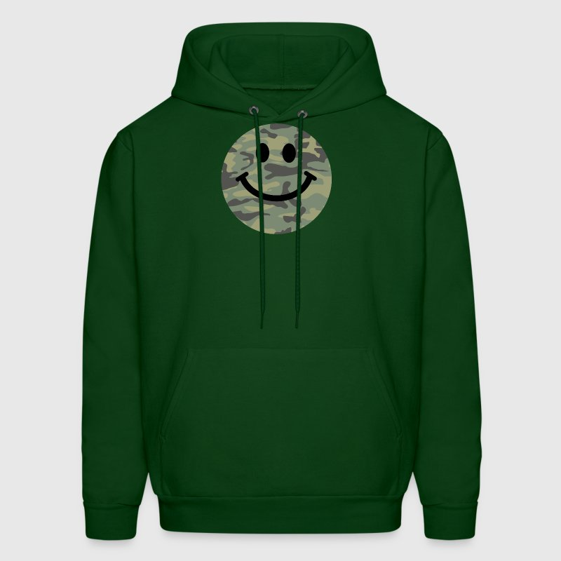 Army green camo Smiley face Hoodies - Men's Hoodie