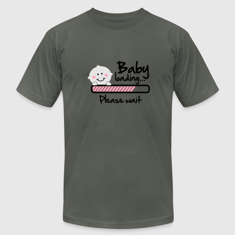 Baby loading - please wait T-Shirts - Men's T-Shirt by American Apparel