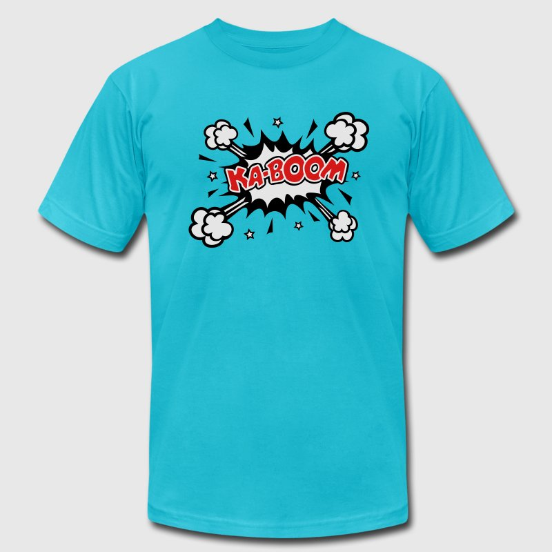 KABOOM, comic speech bubble, cartoon, explosion T-Shirts - Men's T-Shirt by American Apparel