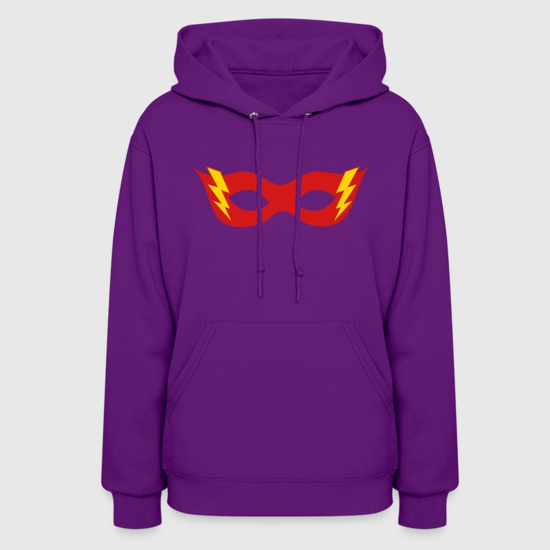 Comic, Cartoon, Hero mask, Flash, Super Hero, Fun Hoodies - Women's Hoodie