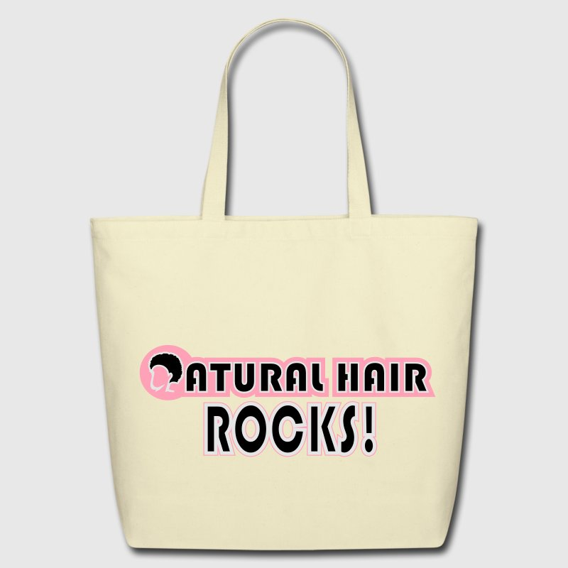 Natural Hair Rocks Bags & backpacks - Eco-Friendly Cotton Tote