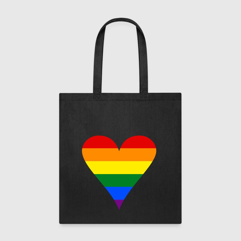 Gay Pride Rainbow Heart Funky - Tote Bag