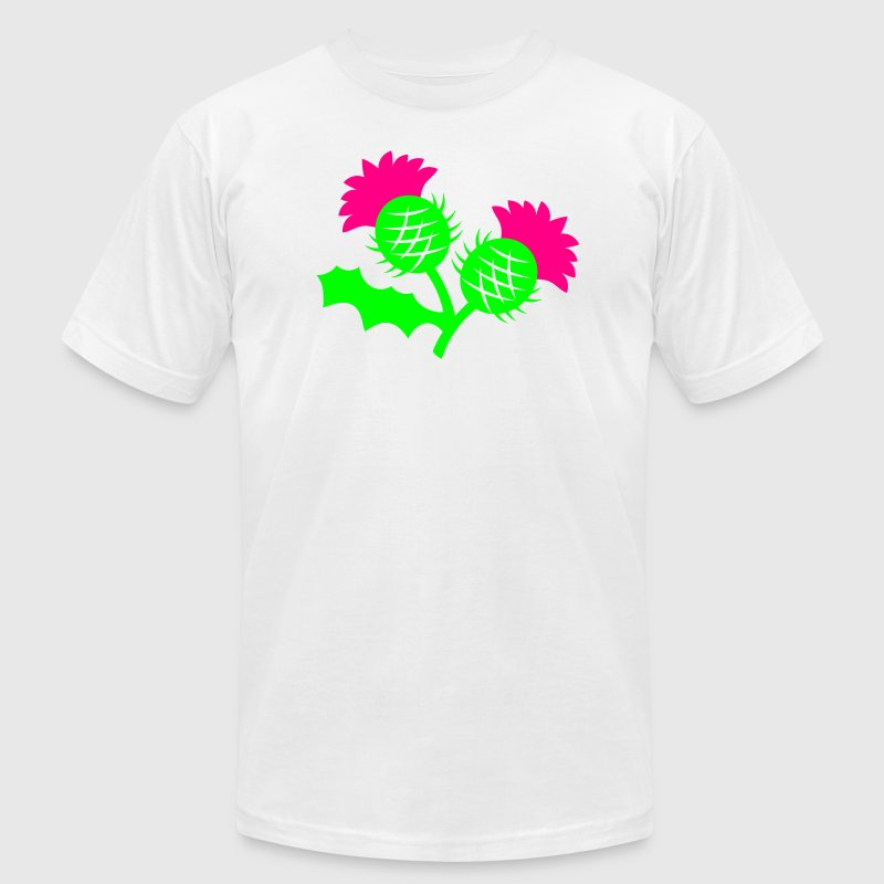 SCOTLAND icon Scottish thistle flower plant T-Shirts - Men's T-Shirt by American Apparel