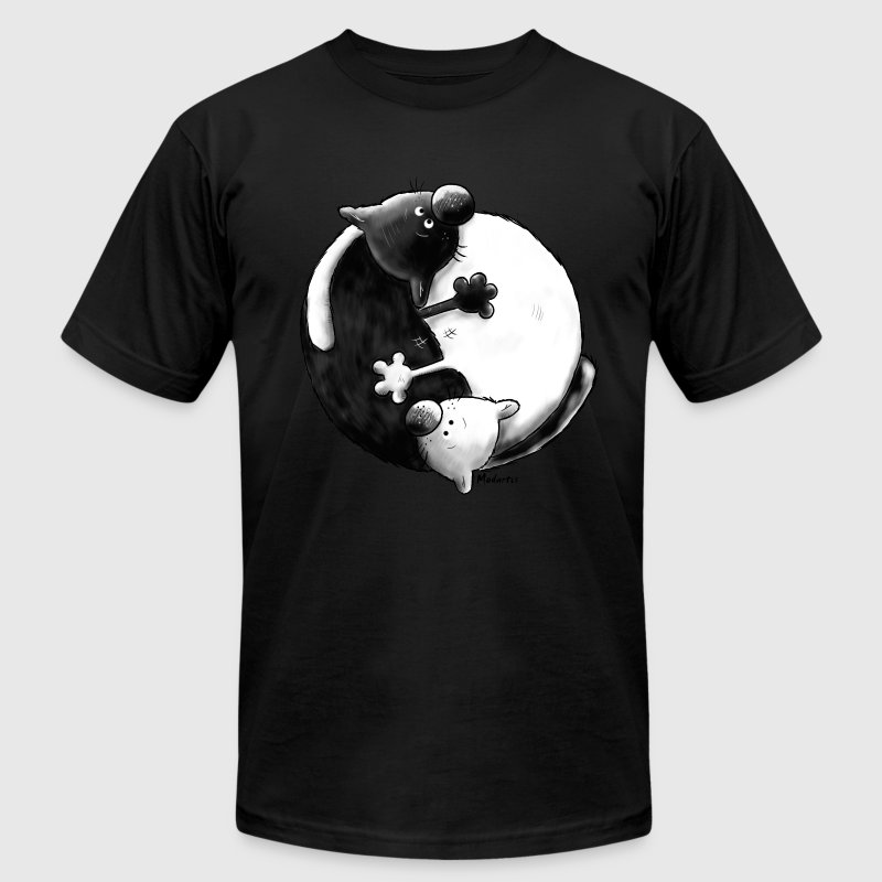 Black and White - Yin Yang – cats T-Shirts - Men's T-Shirt by American Apparel