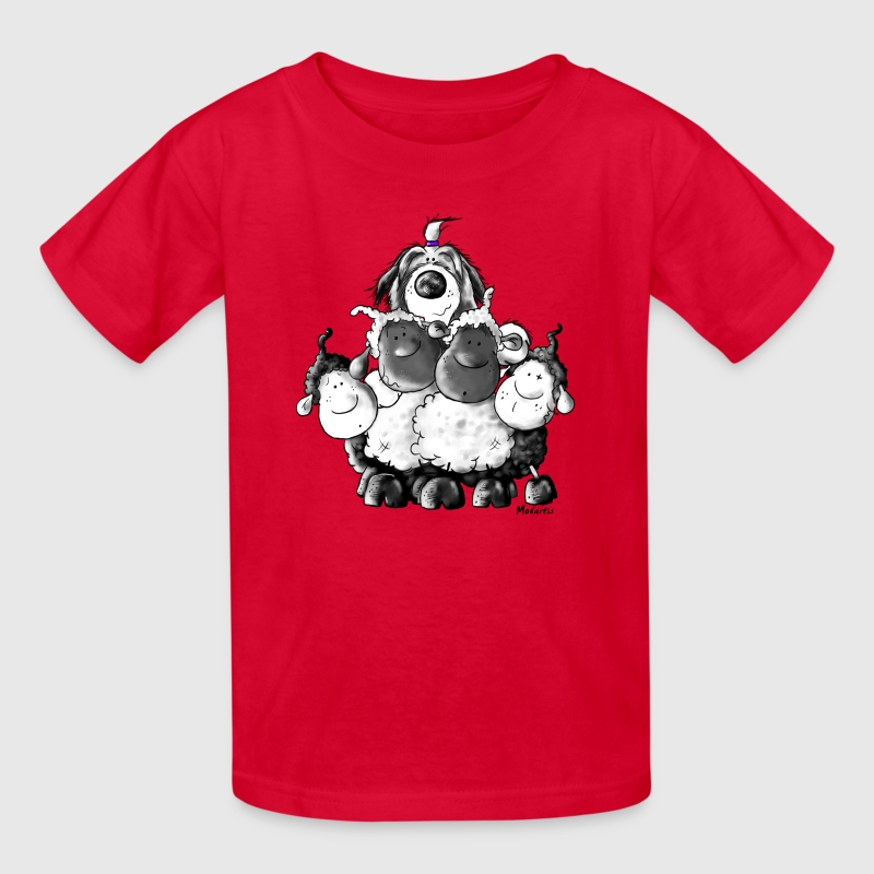 Bearded Collie and sheep - Herding dog design Kids' Shirts - Kids' T-Shirt