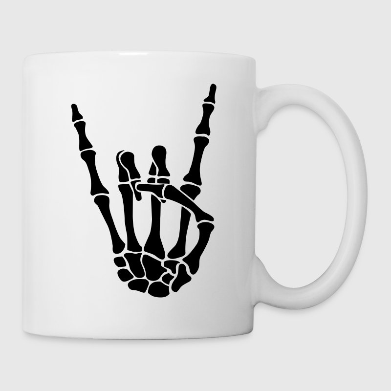 skull rock hand Bottles & Mugs - Coffee/Tea Mug