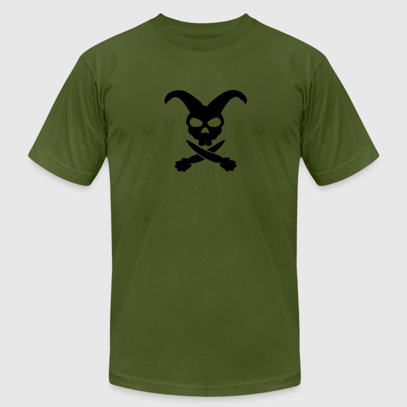 rabbit skull T-Shirts - Men's T-Shirt by American Apparel