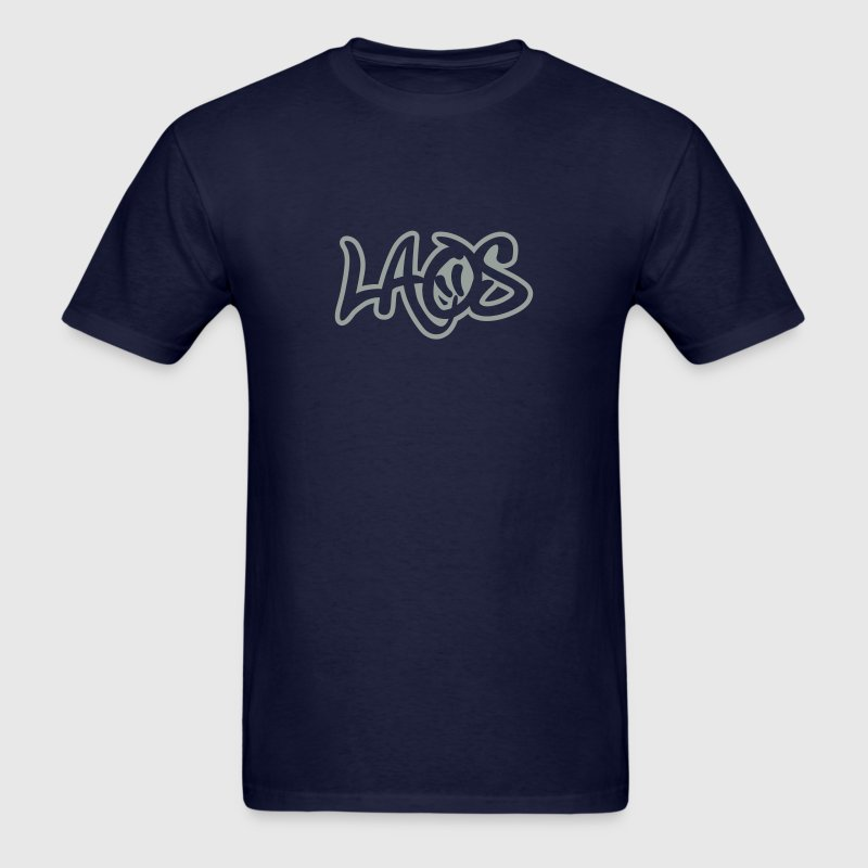 Laos Graffiti Outline T-Shirts - Men's T-Shirt