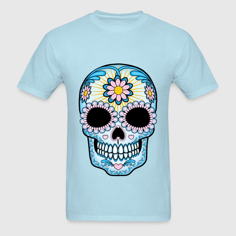 Colorful Sugar Skull T Shirt Spreadshirt