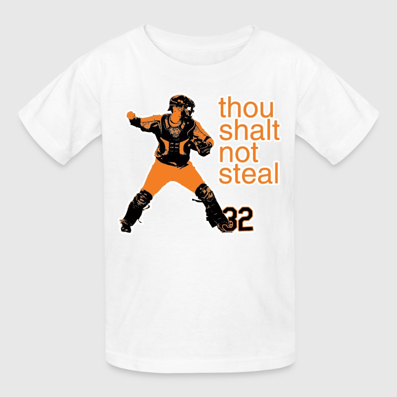Matt Wieters: Thou Shalt Not Steal Kid's Shirt - Kids' T-Shirt