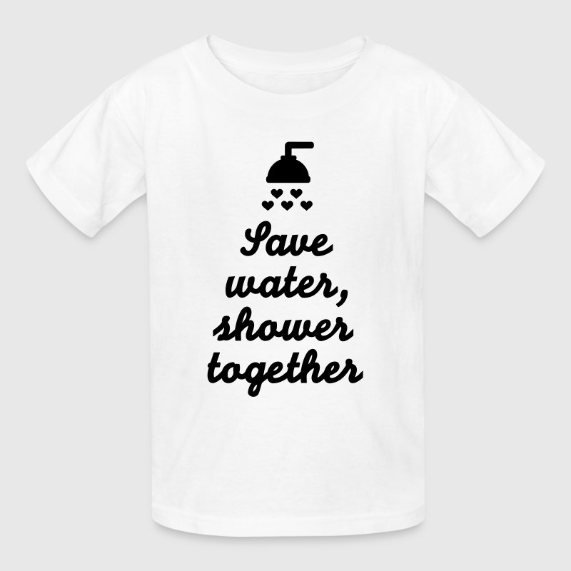 Save water Shower together Kids' Shirts - Kids' T-Shirt