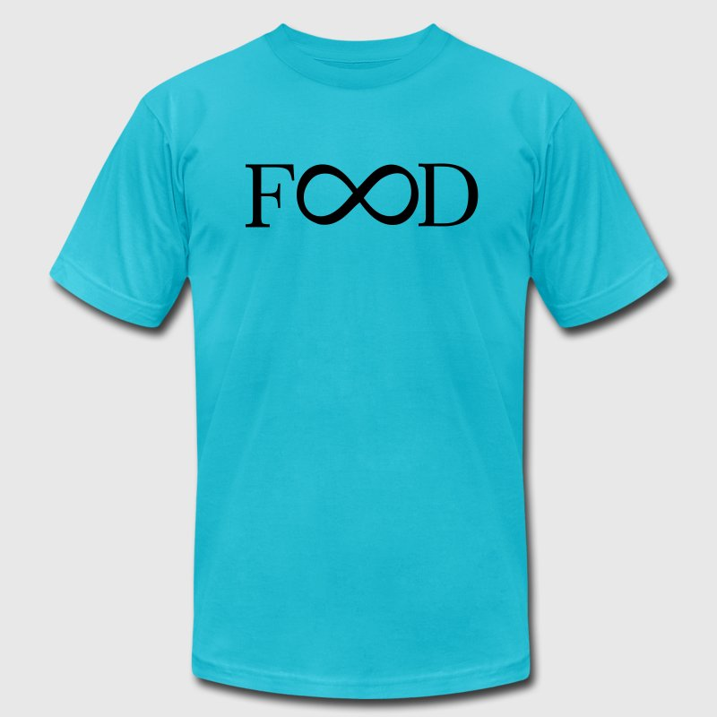 food infinity T-Shirts - Men's T-Shirt by American Apparel