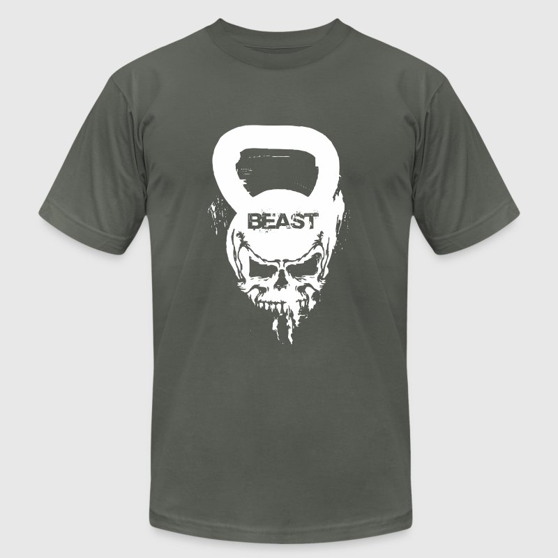 Funny Gym Shirt - Beast Fitness - Men's T-Shirt by American Apparel