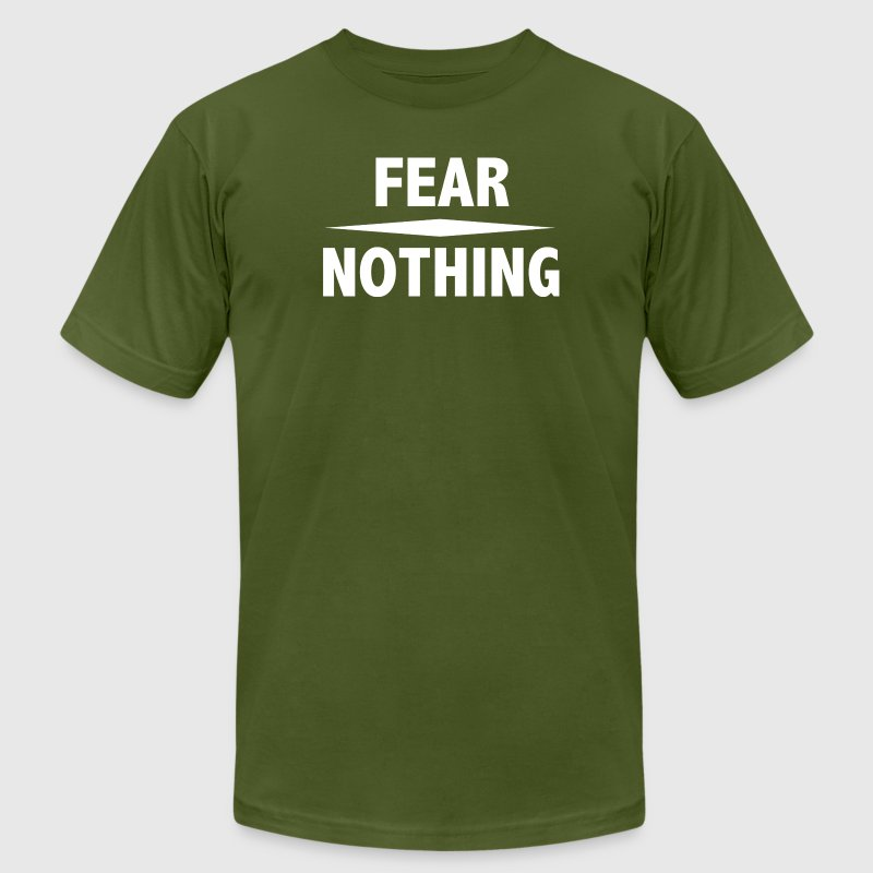 Fear Nothing T-Shirts - Men's T-Shirt by American Apparel