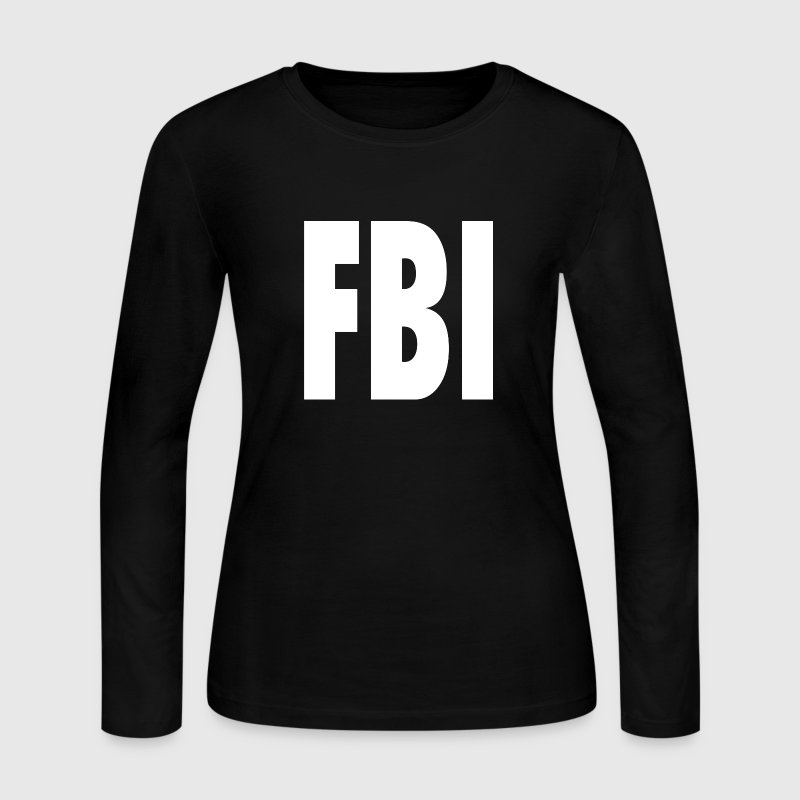 FBI Shirt Design Long Sleeve Shirts - Women's Long Sleeve Jersey T-Shirt