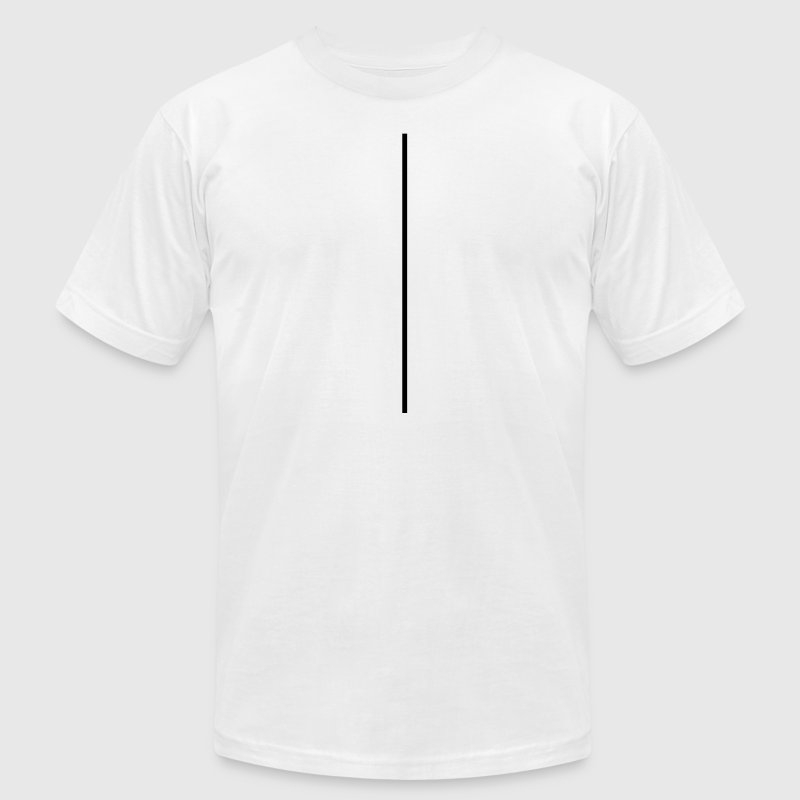 line, underlined, underlines, line, strip,vertical T-Shirts - Men's T-Shirt by American Apparel