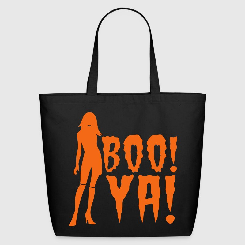 boo ya! halloween sexy lady scary ghost Bags & backpacks - Eco-Friendly Cotton Tote