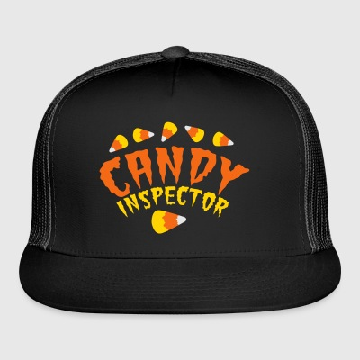 FUNNY HALLOWEEN candy inspector! candy corn Bags & backpacks - Trucker Cap