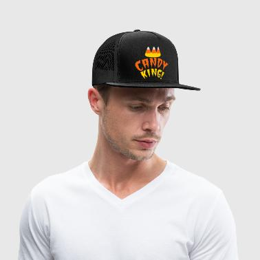 CANDY corn KING with crooked candy corn teeth Bags & backpacks - Trucker Cap