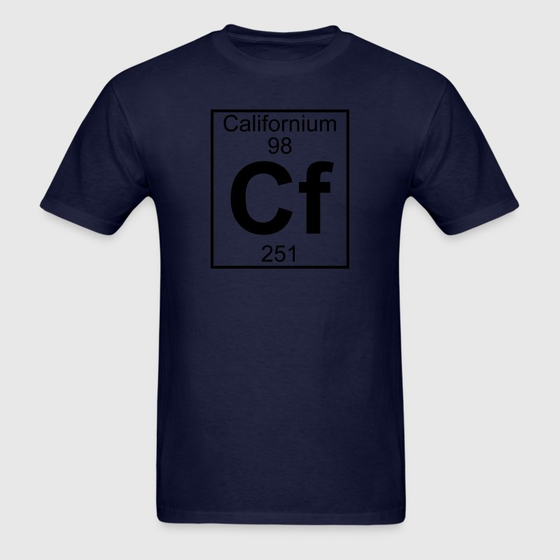 Element 98 - cf (californium) - Full T-Shirts - Men's T-Shirt