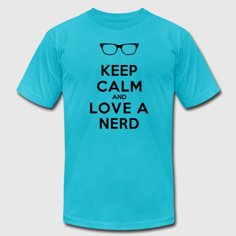 KEEP CALM AND LOVE A NERD T-Shirts - Men's T-Shirt by American Apparel