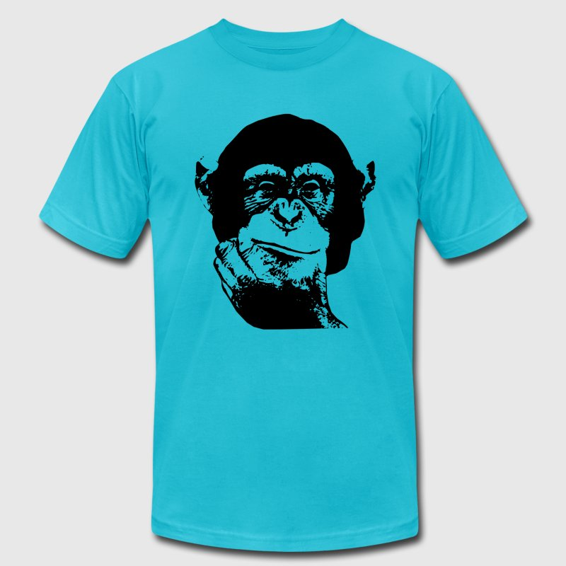 Think Chimp T-shirt T-Shirts - Men's T-Shirt by American Apparel