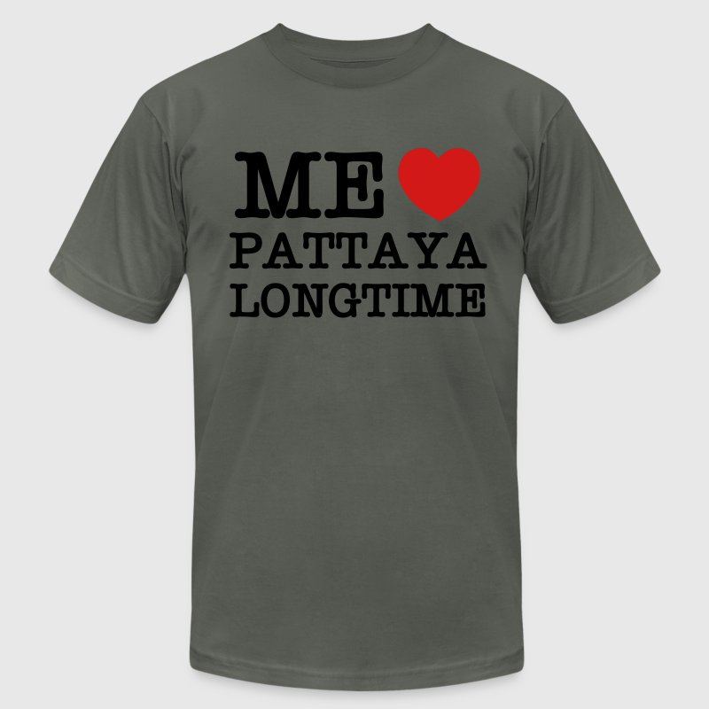 ME LOVE PATTAYA LONGTIME T-Shirts - Men's T-Shirt by American Apparel
