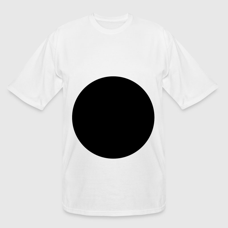 Circle White Tall Tshirt FRONT - Men's Tall T-Shirt