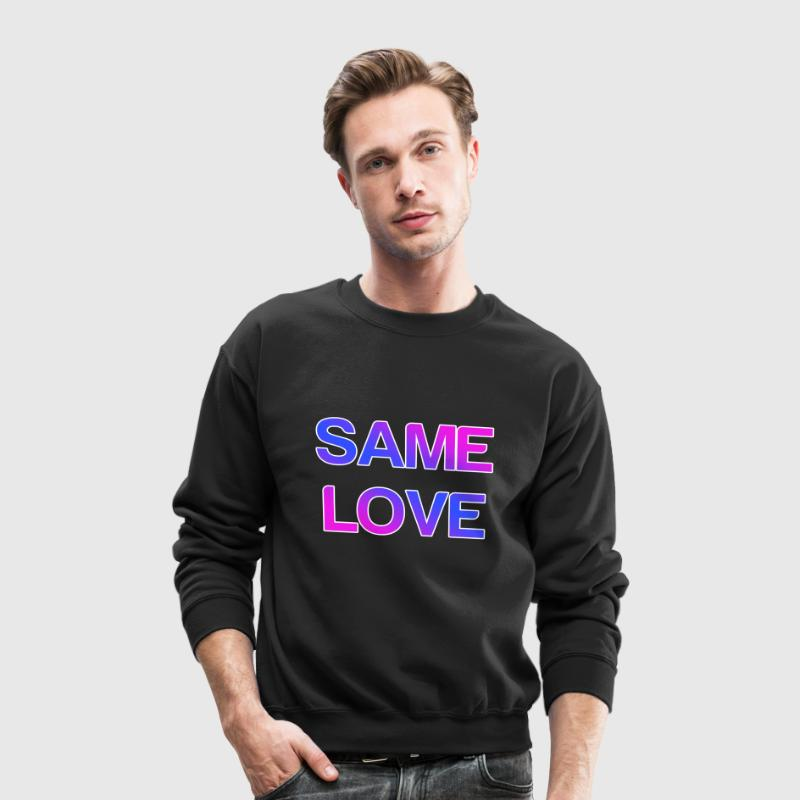 Same Love LGBT Design Long Sleeve Shirts - Crewneck Sweatshirt