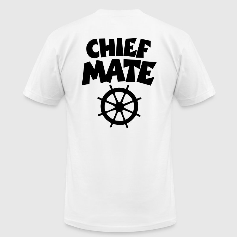 Chief Mate T-Shirt (White/Back) - Men's T-Shirt by American Apparel