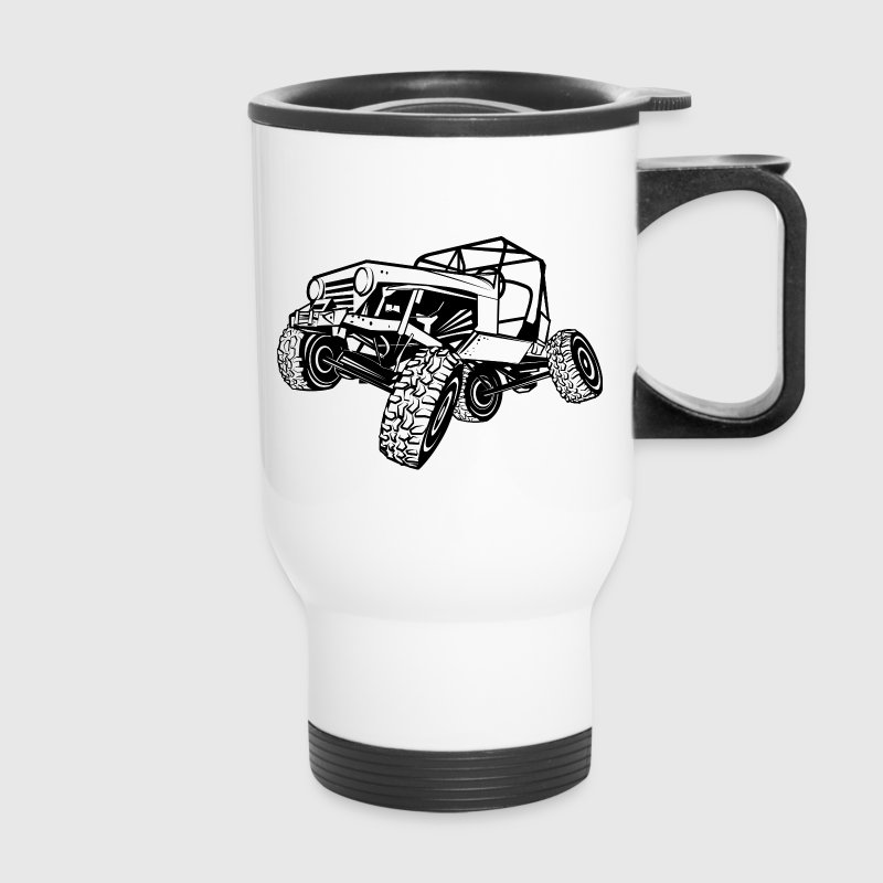 Monster Cool Jeep Bottles & Mugs - Travel Mug