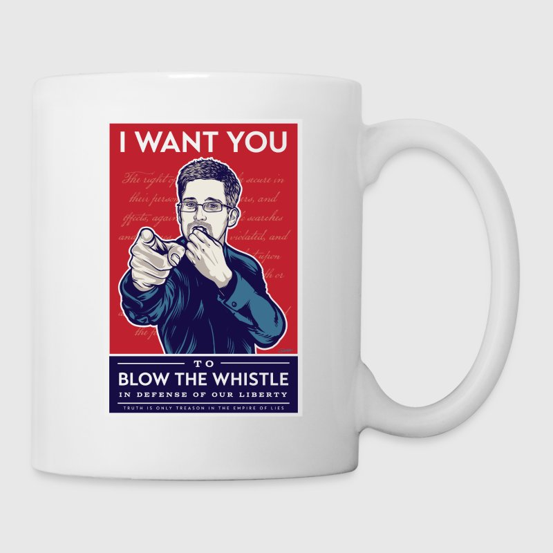 Edward Snowden - I want you to blow the whistle Mugs & Drinkware - Coffee/Tea Mug
