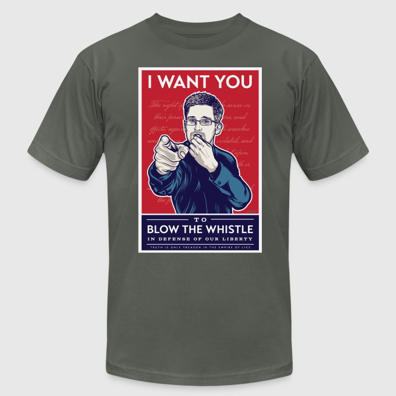 Edward Snowden - I want you to blow the whistle T-Shirts - Men's Fine Jersey T-Shirt
