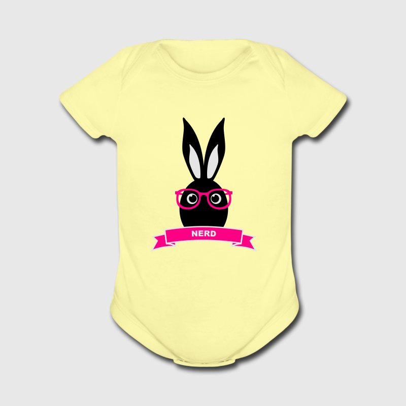 Nerd hipster rabbit hare bunny cony glasses specs Baby & Toddler Shirts - Short Sleeve Baby Bodysuit