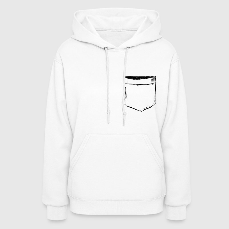 Pocket Drawing Comic Hoodies - Women's Hoodie