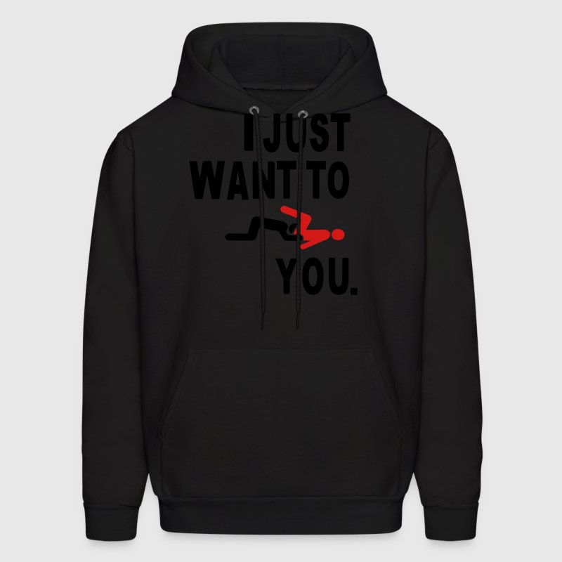 I JUST WANT TO EAT YOU. Hoodies - Men's Hoodie