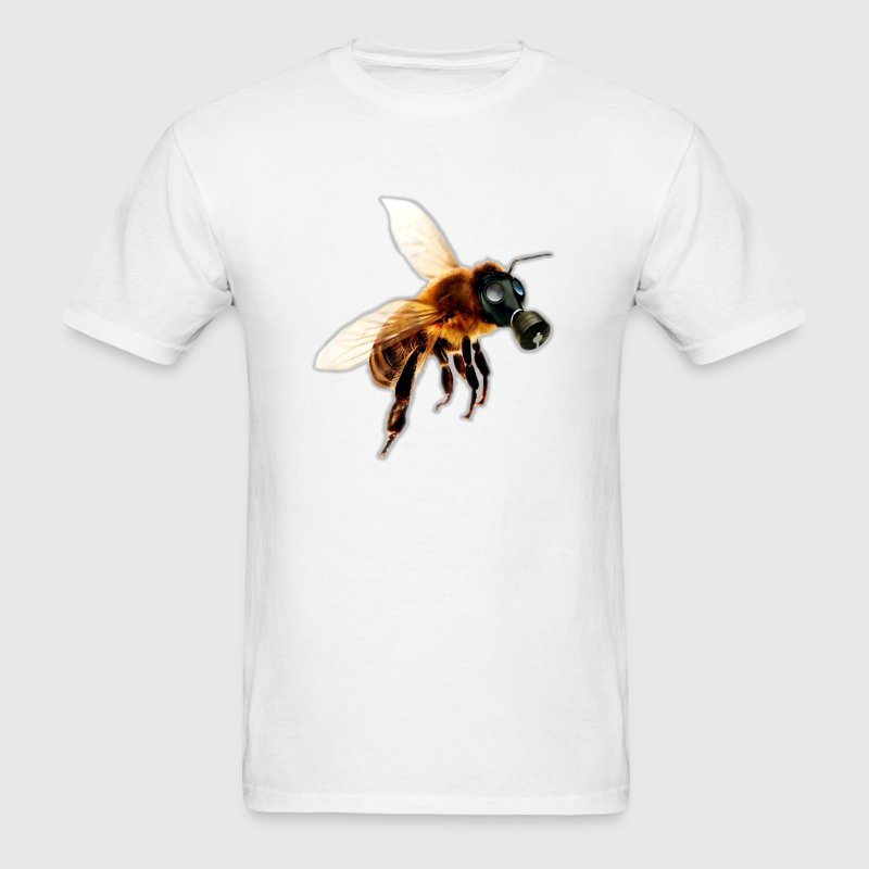 Bee With Gas Mask T-Shirts - Men's T-Shirt