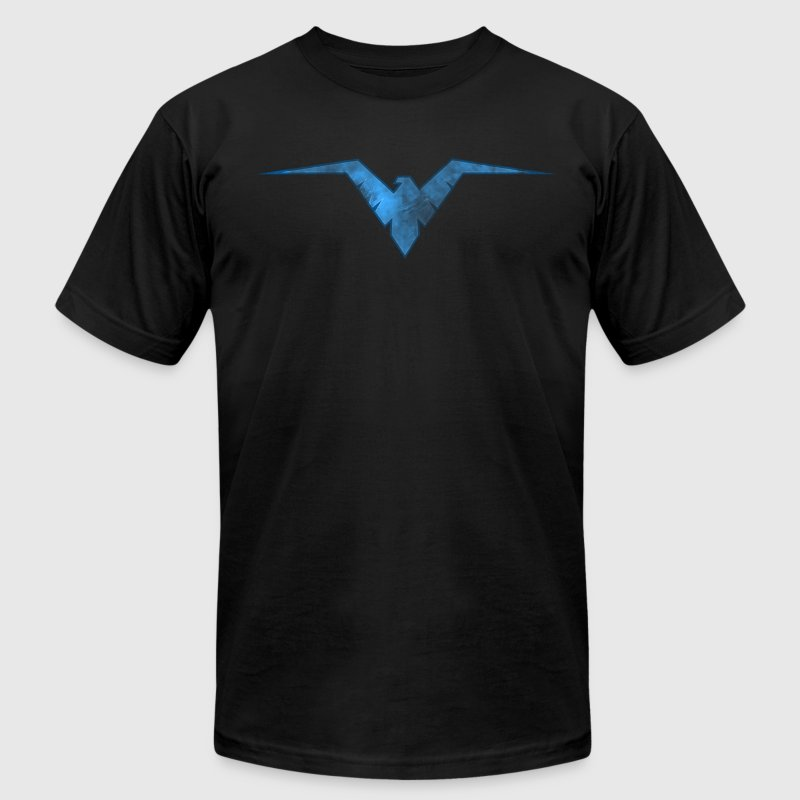 Battle Worn Night Wing Logo  T-Shirts - Men's T-Shirt by American Apparel