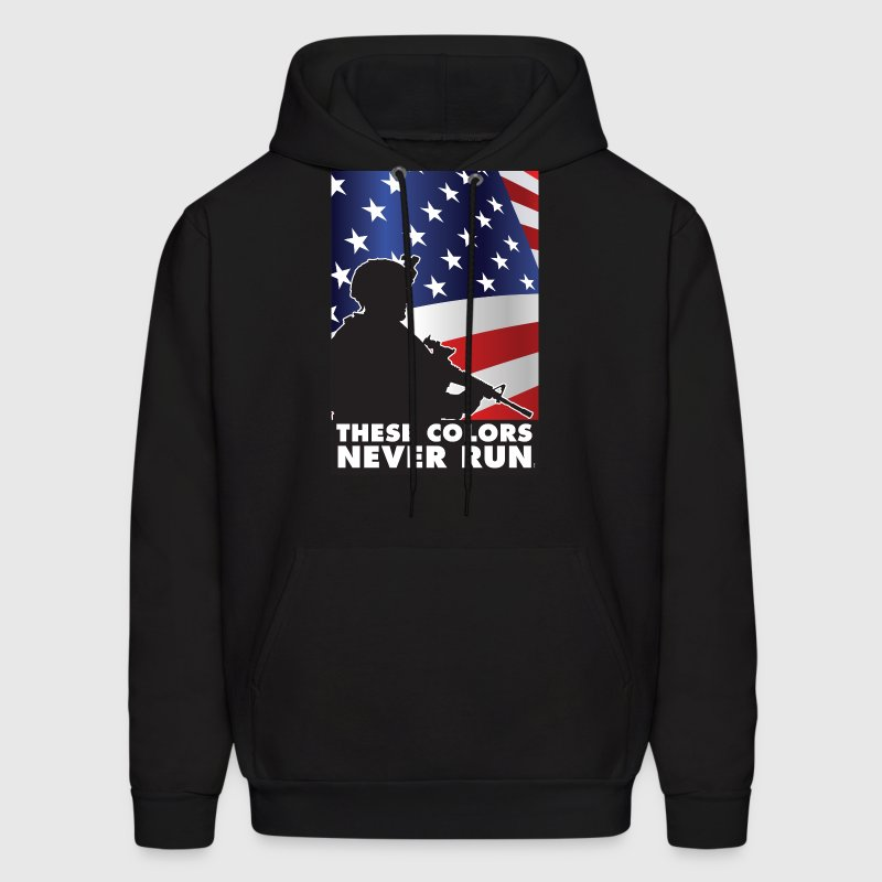 USA PATRIOT  - THESE COLORS DON'T RUN - Men's Hoodie