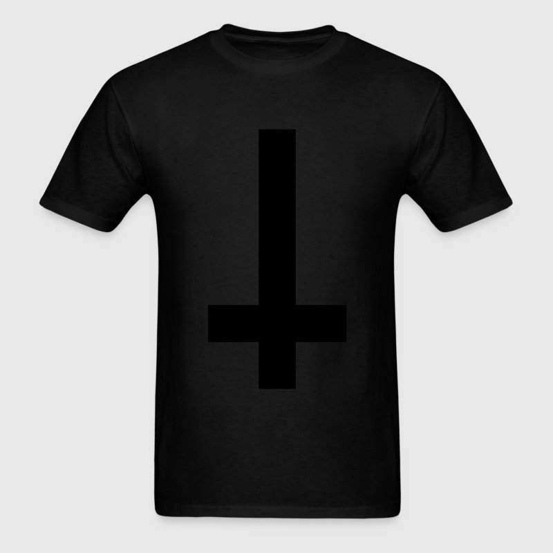 Upside down cross - Men's T-Shirt