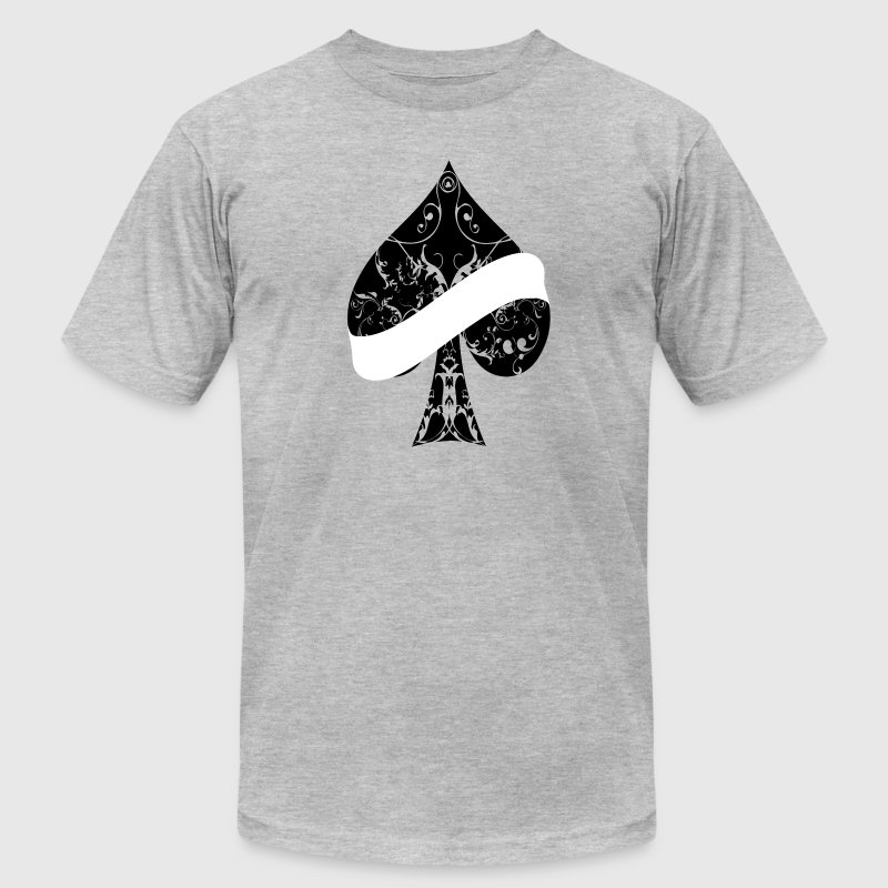 Ace of Spades floral tribal banner spade EMPTY T-Shirts - Men's Fine Jersey T-Shirt