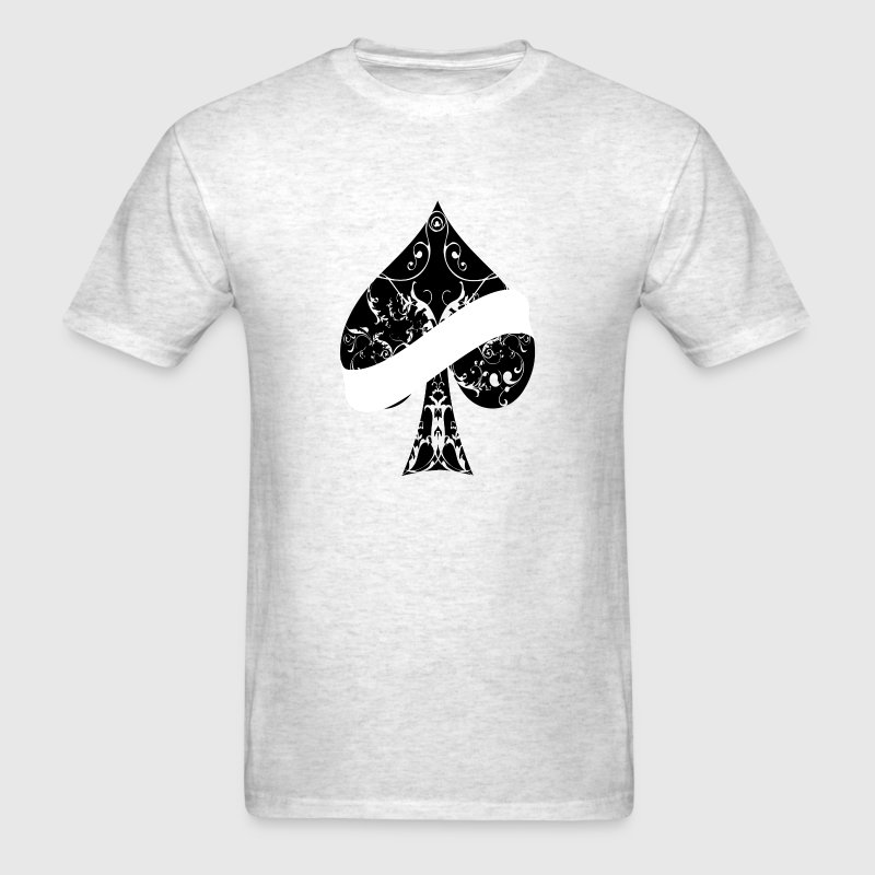 Ace of Spades floral tribal banner spade EMPTY T-Shirts - Men's T-Shirt
