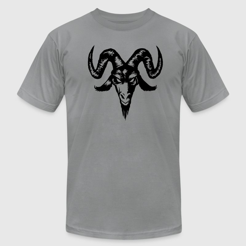 Goat Head T-Shirts - Men's T-Shirt by American Apparel